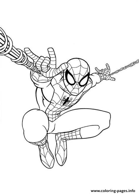 ultimate spiderman jump coloring pages printable