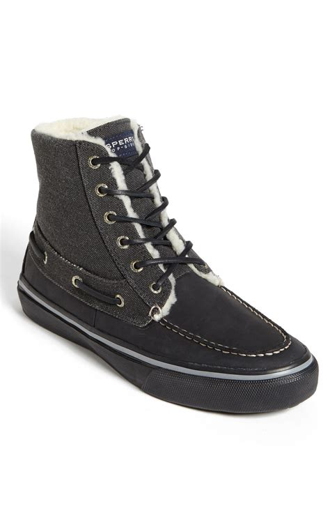 sperry boots for sperry top sider bahama boot in black for lyst