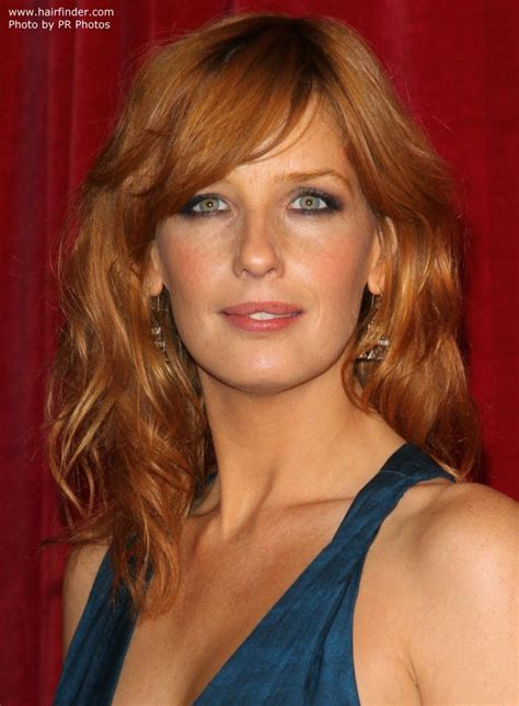 European Style Home by Kelly Reilly Long Layered Hairstyle That Brings All