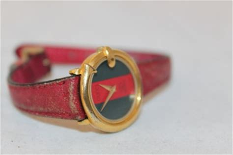 Gucci Twofaces 03cg101 gucci vintage green leather band ebay