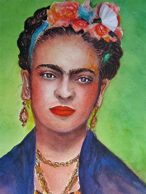 Frida Kahlo Living Series portrait of frida kahlo painting by myra