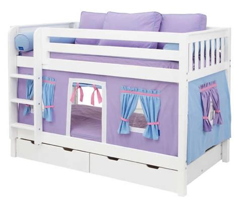 playhouse bunk beds purple playhouse bunk bed in white by maxtrix kids 700 1