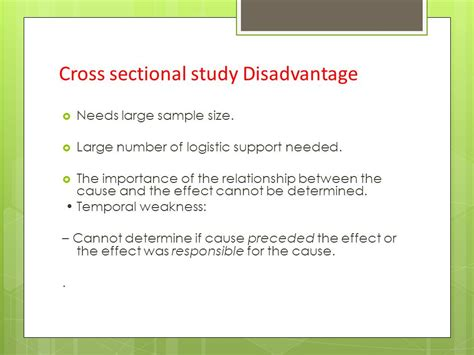 weakness of cross sectional study cross sectional study ppt video online download
