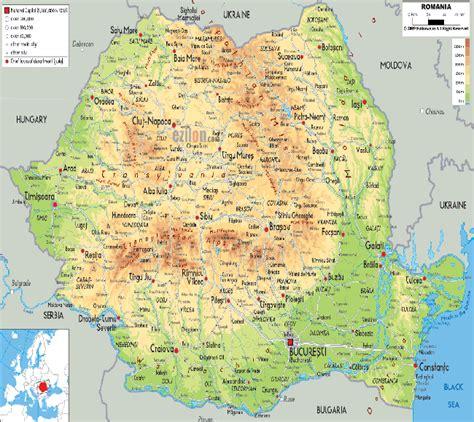 political map of romania romania political map map of romania romania travel map