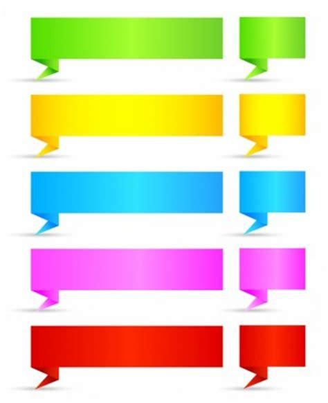 arrow label color sticker satin origami banners free vector in adobe illustrator ai ai