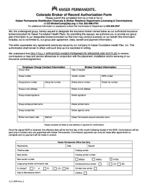 Insurance Bor Letter broker of record letter kaiser fill printable fillable blank pdffiller