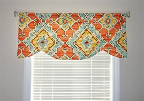curtains toppers sale scalloped curtain valance topper window treatment orange