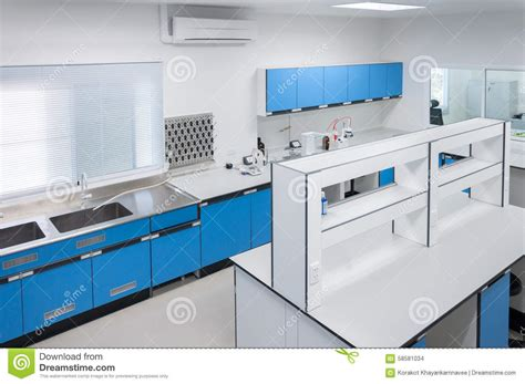 design lab equipment science modern lab interior architecture stock photo