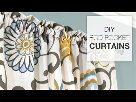 how to make basic curtains easy diy curtains how to make a rod pocket curtain youtube