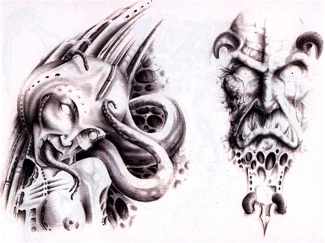 spooky tattoo designs scary designs elaxsir