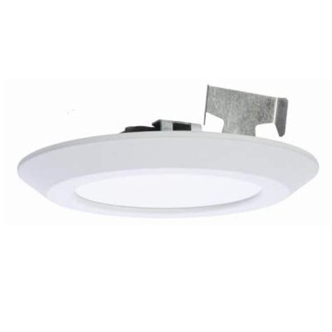 halo led disc light halo 5 in and 6 in matte white recessed led surface disk