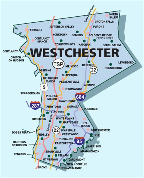 westchester county map map of westchester county new york new york map