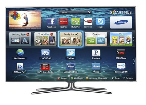 Tv Smart samsung samsung 55 inch led smart tv un55f7100 3d hdtv with 4 pairs