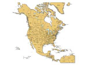 basic us map with major cities america powerpoint map w countries provinces