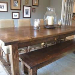 farmhouse dining table set bench rustic kitchen diy farmhouse table and bench kitchen tip junkie