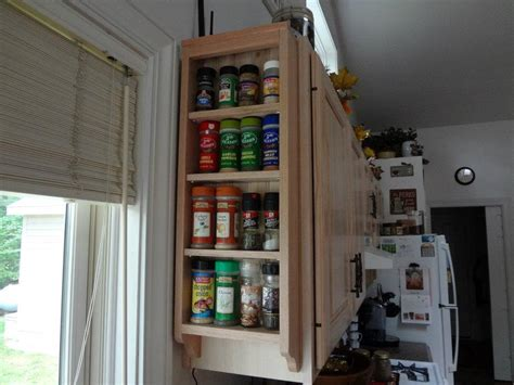 wall mounted solid wood spice rack by midwestclassiccrafts