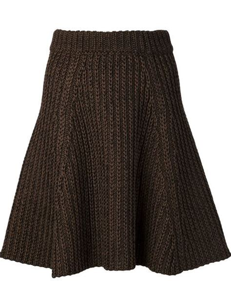 knitted skirt proenza schouler cable knit a line skirt curve