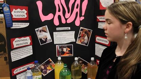 lava l science fair project abigail susanne johnson wins blue ribbon 2013 sherwood