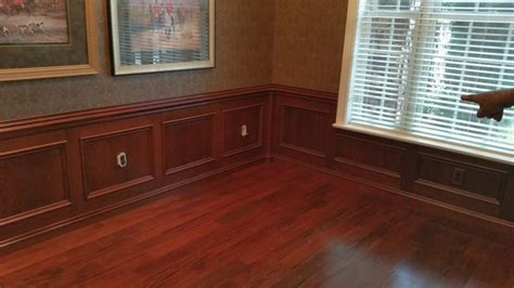 Cherry Wainscoting Panels by Cherry Wainscot Paneling Modern Dining Room Orlando