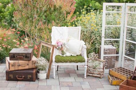 Vintage Garden Wedding Decor Rustic Garden Wedding In California