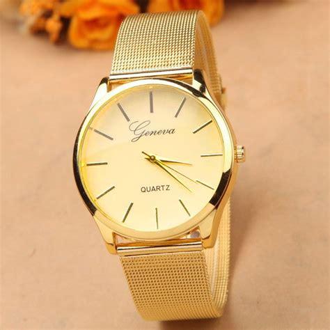 Jam Tangan Geneva Bandung geneva jam tangan analog yq001gd golden jakartanotebook