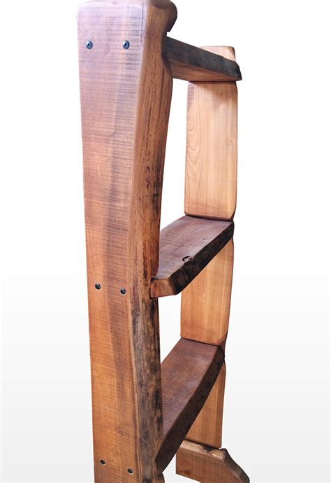Cherry Bookshelf by Freeform Cherry Live Edge Bookcase Darvo