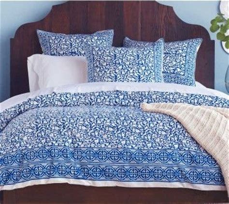 block print bedding indigo block print duvet shams set trees indigo and