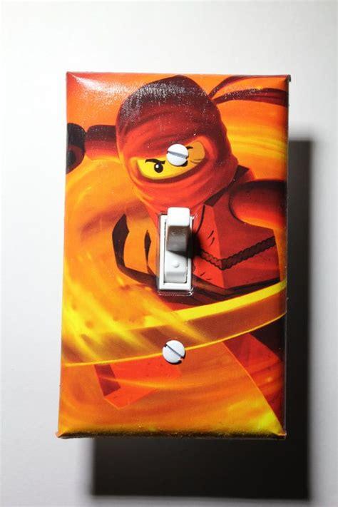 lego ninjago kai light switch plate cover room by