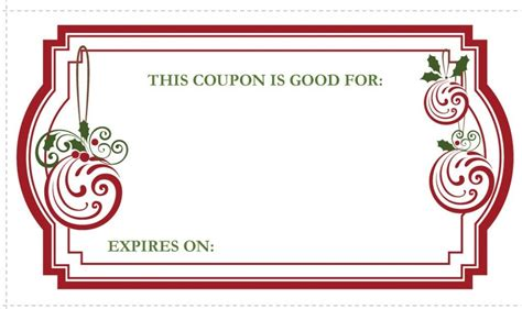 printable coupon gift template christmas coupon templates invitation template