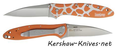 giraffe pattern knife kershaw leek knife with giraffe handle