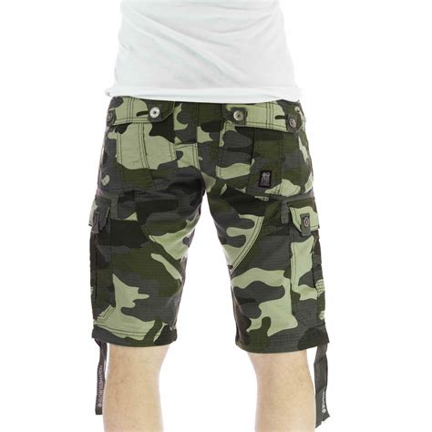 camo shorts mens cargo shorts crosshatch forest camo army camouflage