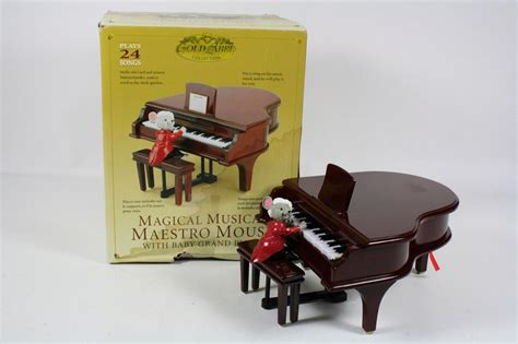 maestro mouse gold label gold label collection magical musical maestro mouse baby grand piano 24 songs ebay
