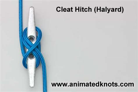 boat dock cleat knot cleat hitch how to tie the cleat hitch for a halyard