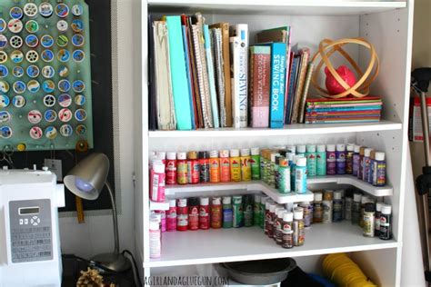how to organize your craft room craft room organizer spicy shelf a and a glue gun