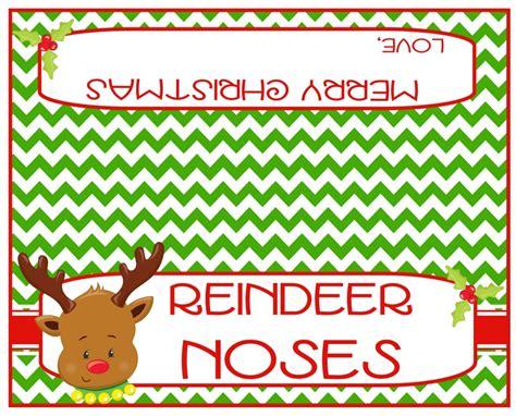 printable reindeer noses bag topper reindeer noses bag toppers printable instant download