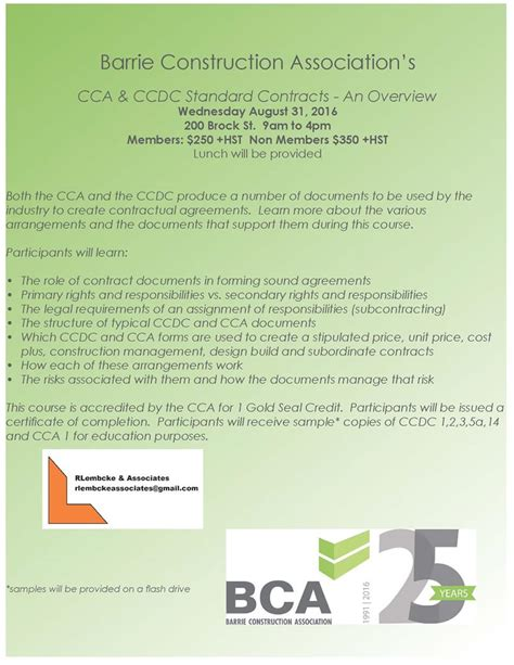 bca design and build contract bca course cca and ccdc standard contracts overview