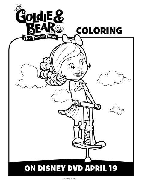goldie bear coloring pages goldie bear disneyjunior activity and coloring sheets