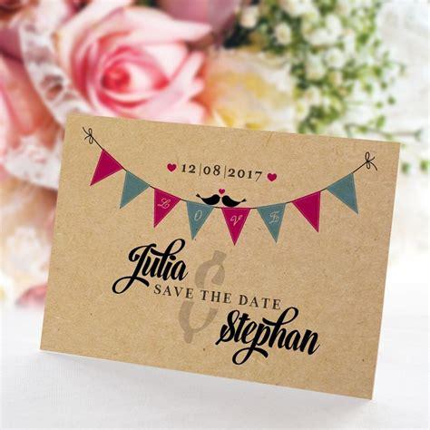 Save The Date Karten Hochzeit by Save The Date Karte Hochzeit Boho Style