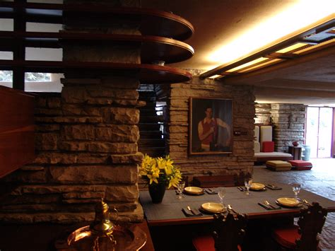 The Wright Interiors by File Frank Lloyd Wright Fallingwater Interior 8 Jpg