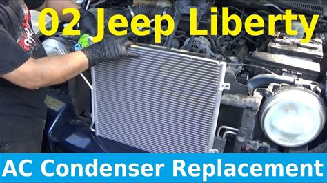 automobile air conditioning repair 2008 jeep liberty engine control 2002 jeep liberty ac condenser replacement automotive education youtube