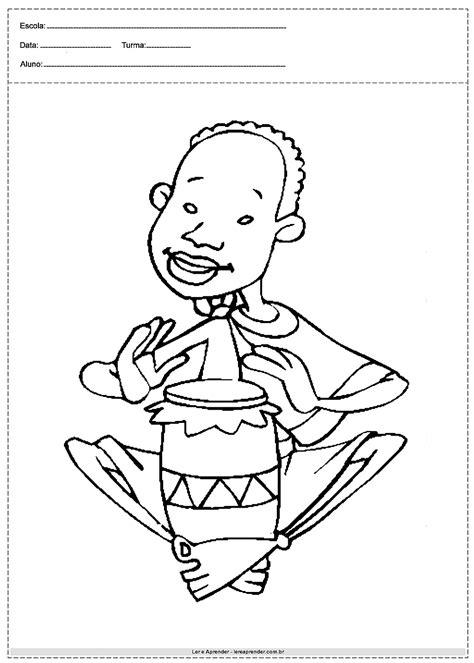 Desenhos para colorir - Consciência Negra - Atividades