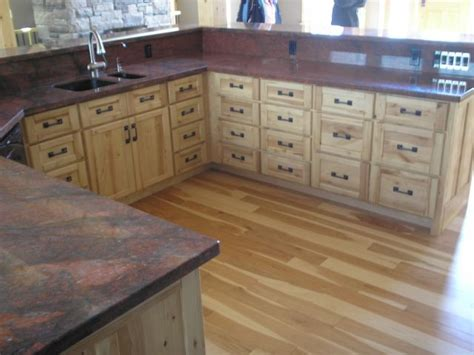 custom sandblasted rustic ash kitchen