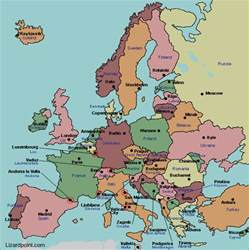 Labeled Europe Map by Gallery For Gt Europe Physical Map Labeled For Kids