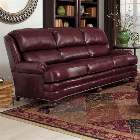 smith brothers   upholstered leather stationary