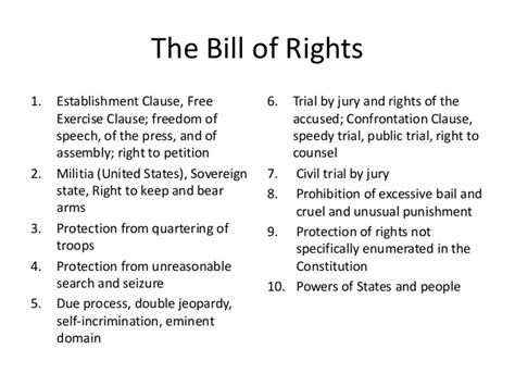 bill of rights section 1 explanation bill of rights