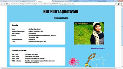 tutorial website script mioagustiyani s zone nur putri agustiyani april 2013