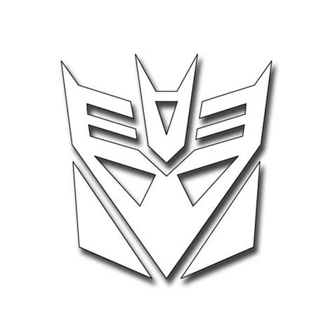 transformers logo coloring pages free logo of decepticons coloring pages