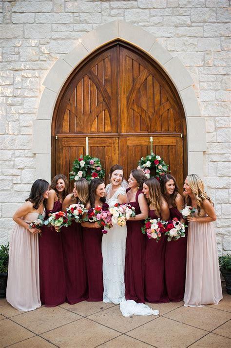 burgundy  mauve bridesmaids elizabeth anne designs