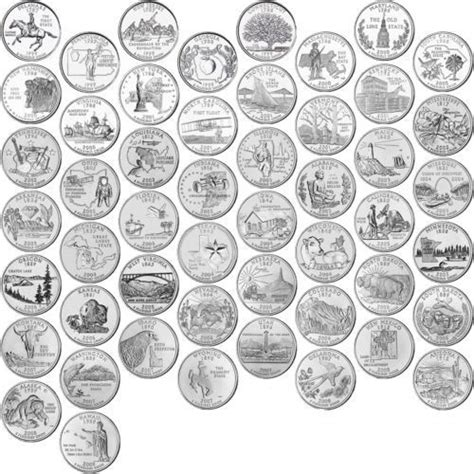 Printable Quarter Collector | 1999 2008 us state quarters complete uncirculated