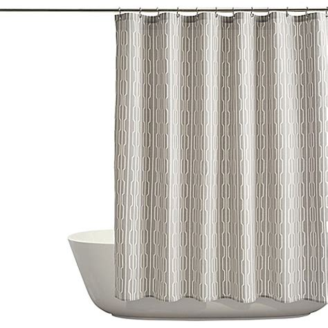 auburn curtains auburn shower curtain in grey bed bath beyond